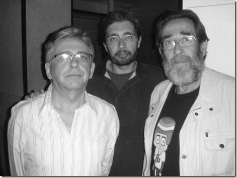 Manuel Imán y Marcos Mantero con el que escribe aquí, el año 2010 en Jerez.